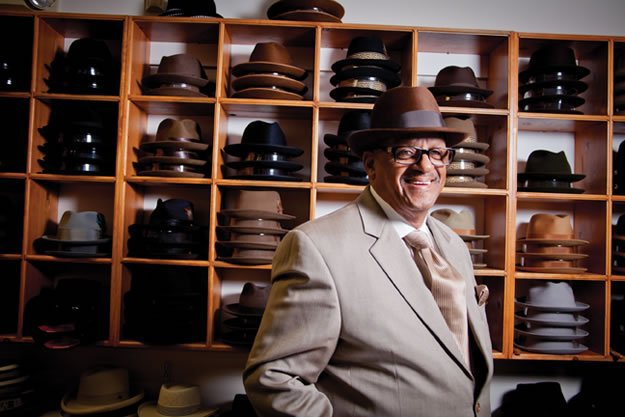 Lemmel Fields, hat shop owner and Pops' friend. This man obviously knows how to wear a hat.