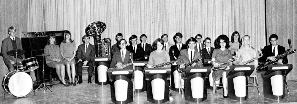 Jenks High School Stage Band. 1968.