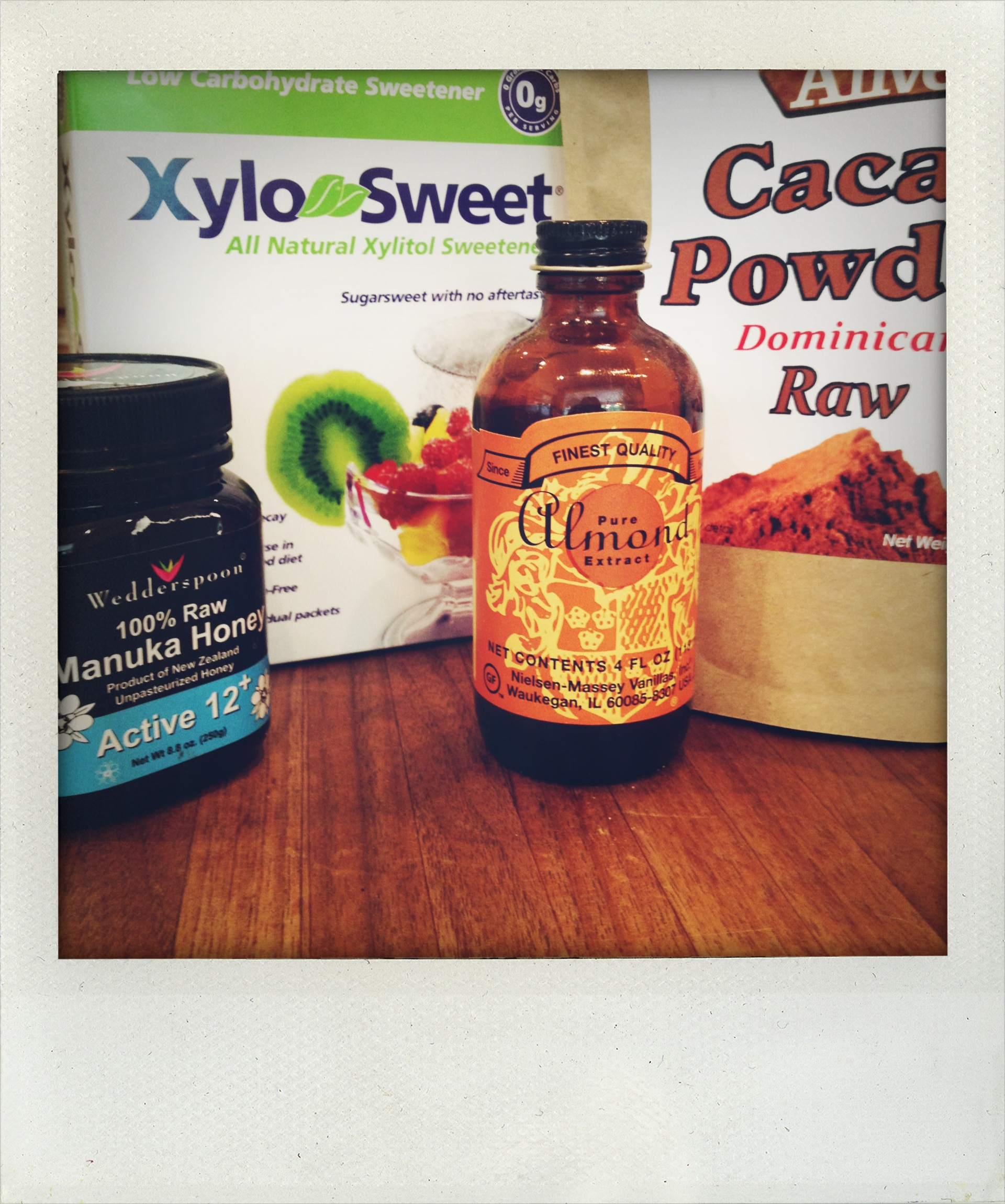 Some of the ingredients used in a Cacao Smoothie