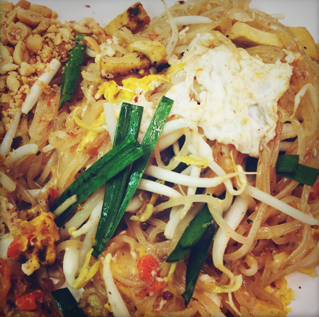 If I could eat one thing over and over again, it would be this Pad Thai. With a Singha to wash it down!