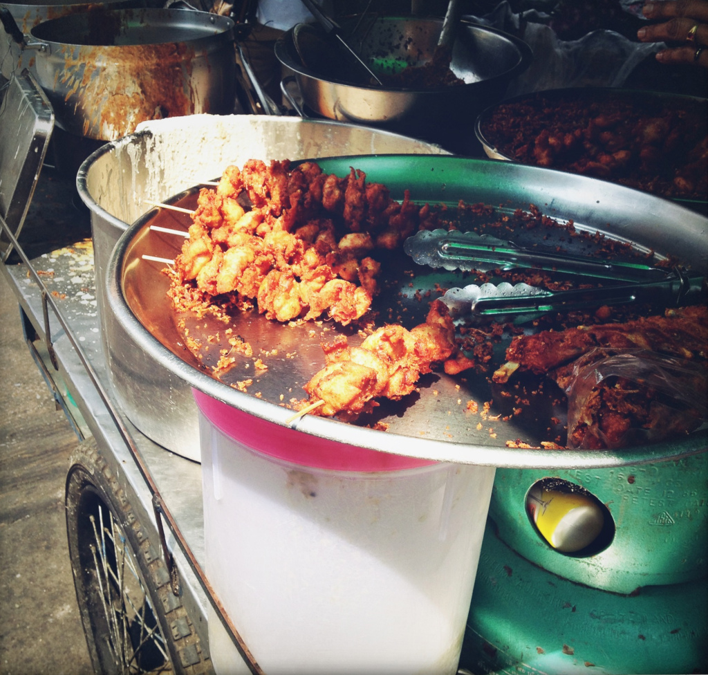 The epitome of chicken satay. What I'd give to find that on a street corner in my home town!