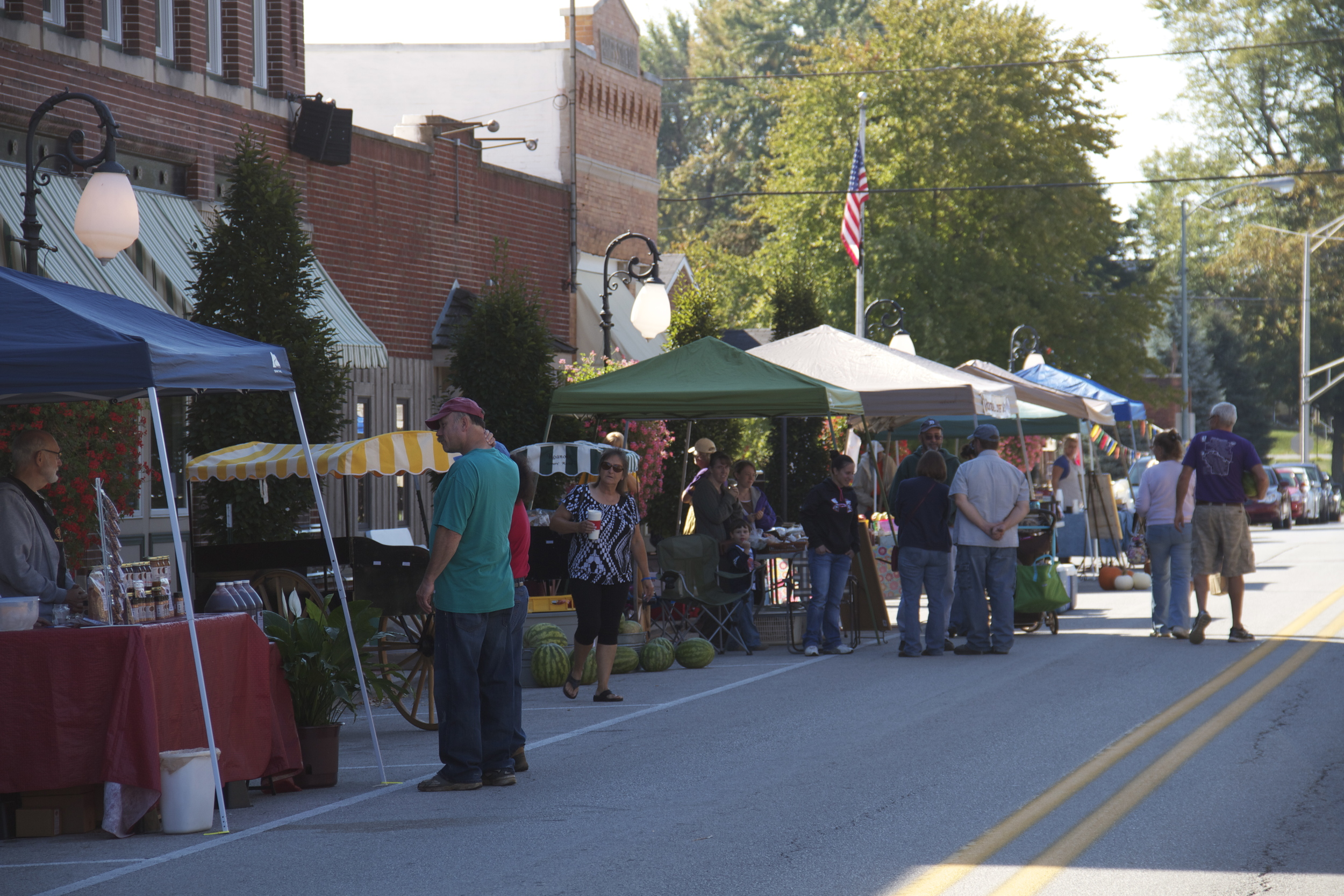 Fall Farmers Market on Main Street. The apple cider is amazing and the baked goods tempting.
