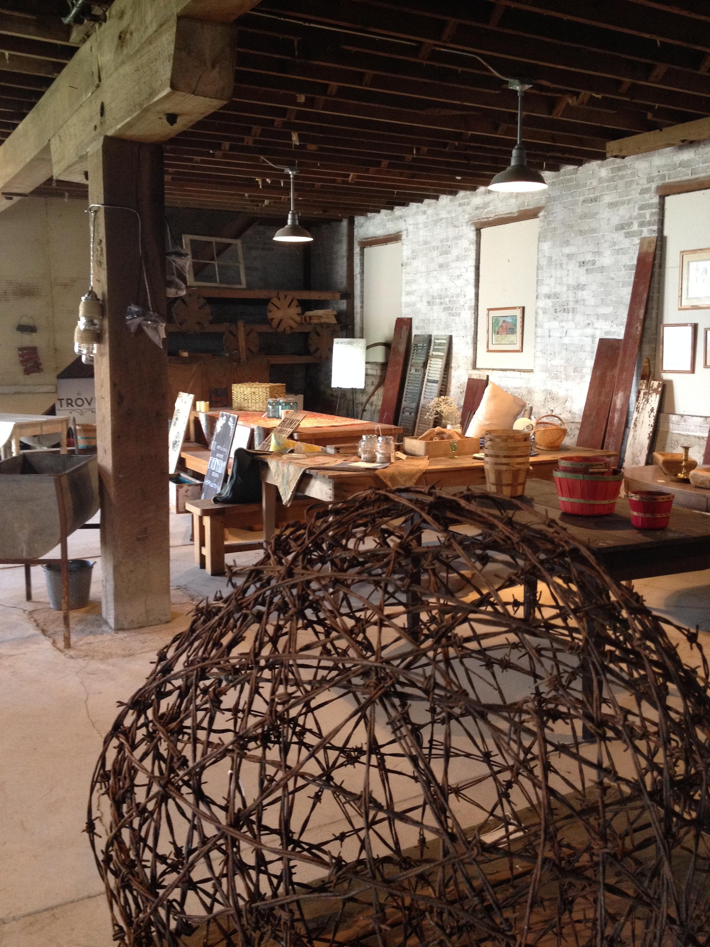 Inside the Trove barn