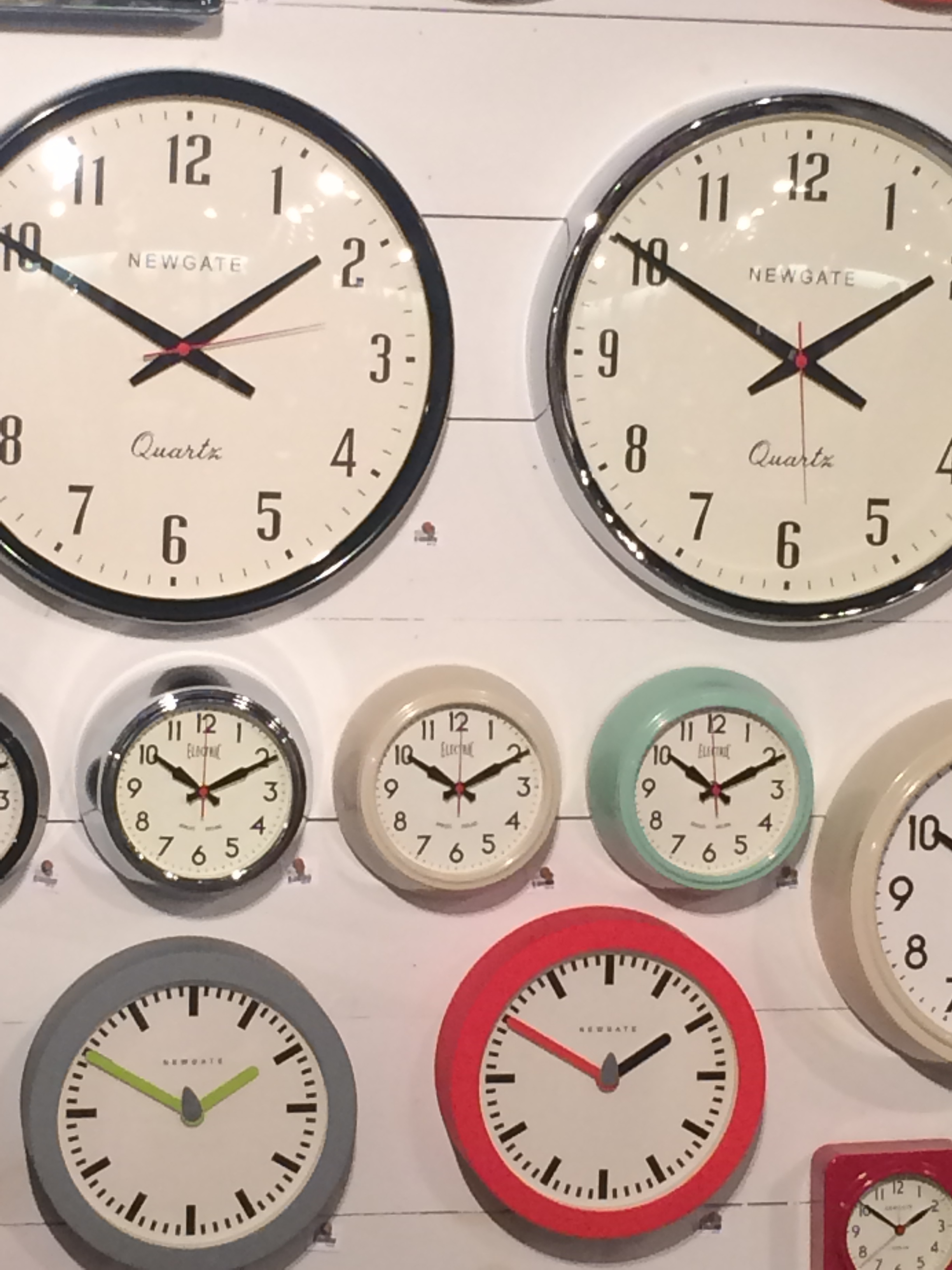 Placed a BIG order for these retro style Newgate clocks.