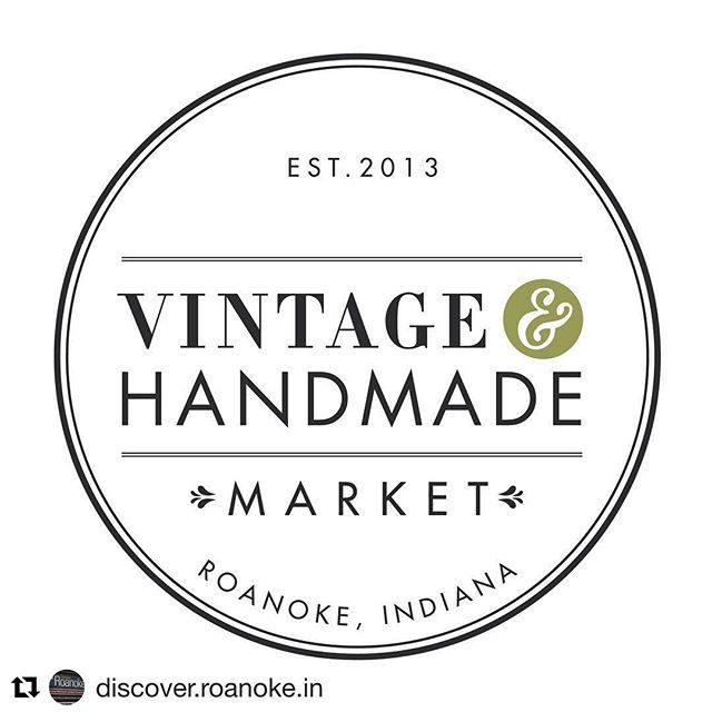 #Repost @discover.roanoke.in ・・・ 📢 Calling all Makers, Crafters, Artisans and Vintage Curators — we're looking for vendors to participate in our Vintage & Handmade Market on June 15th from 9a – 4p in Roanoke, Indiana! This outdoor market on Main Street is one we look forward to every year and would love for you to join us in making this year's event a great one! To learn more about participating as a vendor, follow the link in our profile and download the application.  Additional questions? Contact DiscoverRoanoke@gmail.com