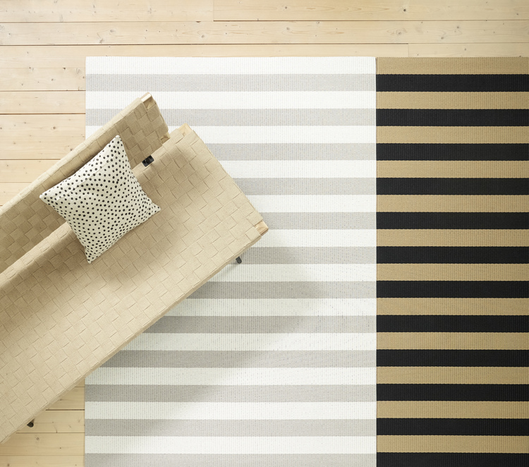 Big Stripe  Left Stone-White Right Black-Natural