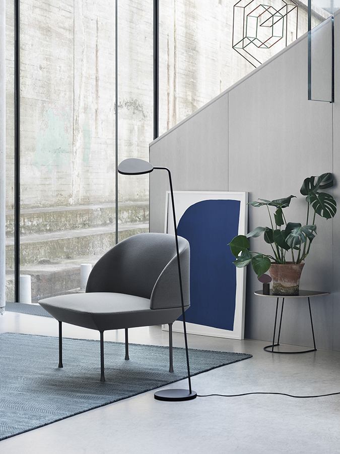 With refined geometric lines and smooth shapes, the Oslo Lounge chair combines Norwegian craftsmanship with textiles from Danish Kvadrat, making it a contemporary addition to any home or professional space.   Oslo lounge chair info page