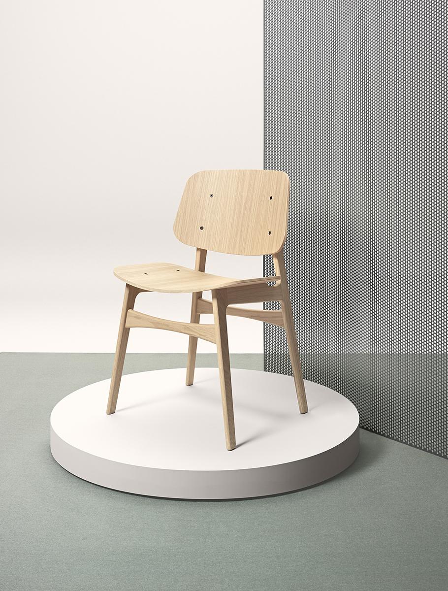 Søborg Chair with Wood Frame
