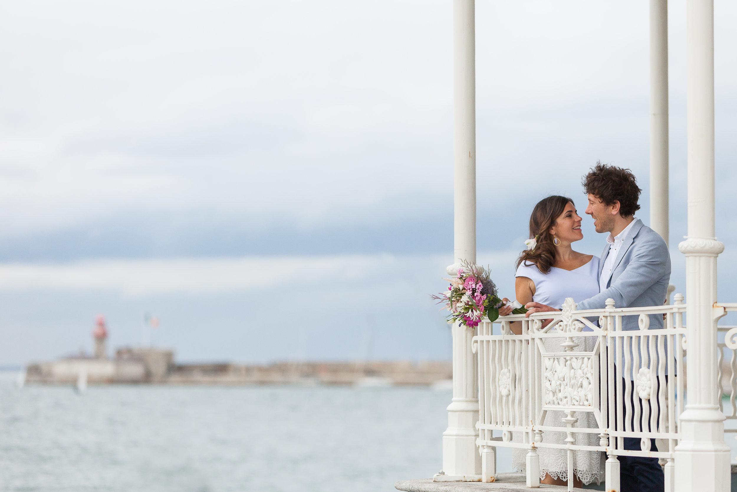 Dunlaioghaire pier wedding pictures