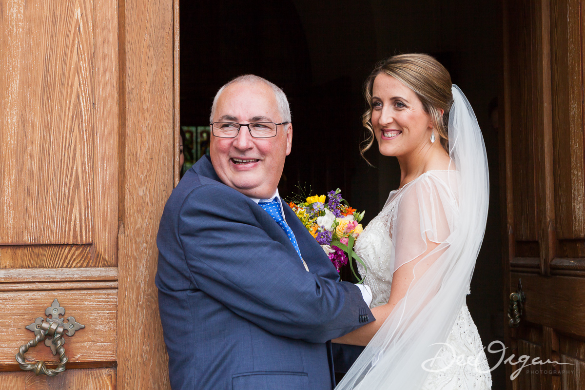 Here's Eimear with her dad happy and relaxed before walking up the aisle to marry her soulmate.
