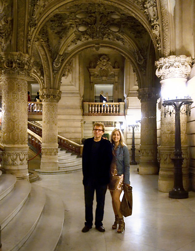 Chuck and Belinda at the Paris Opera