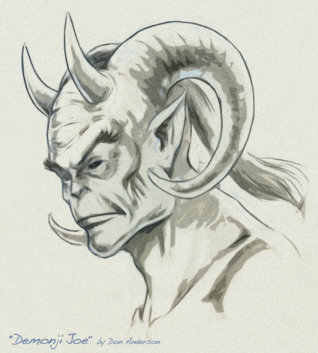 Concept drawing of Demonji Joe by Don Anderson