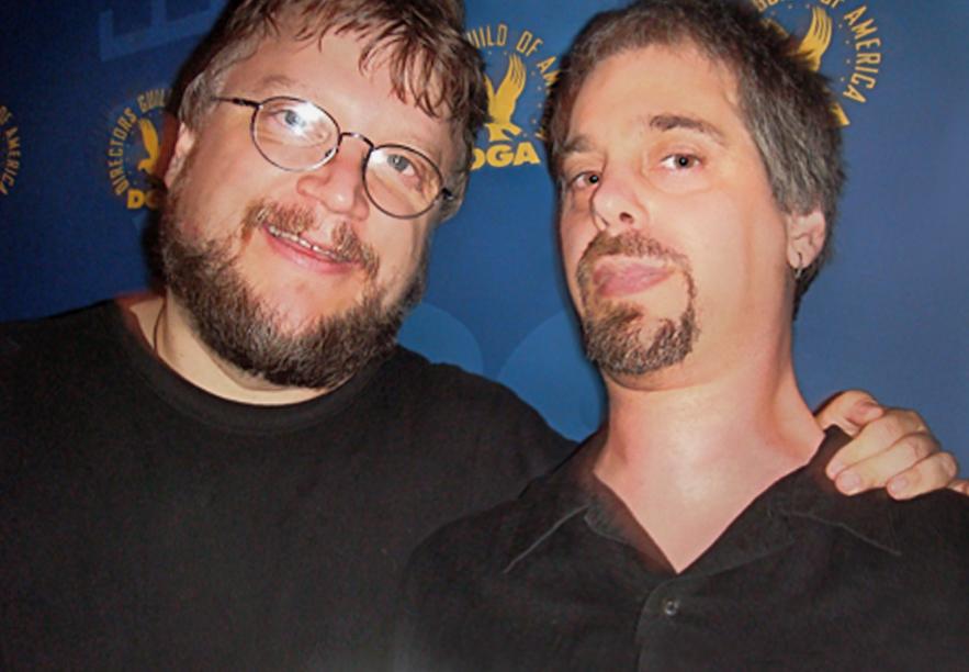 Don with Guillermo Del Toro.
