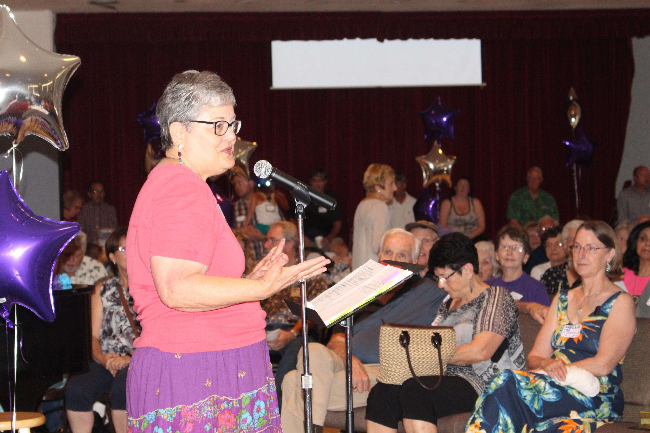 Emcee Rev. Sharon Rhodes-Wickett