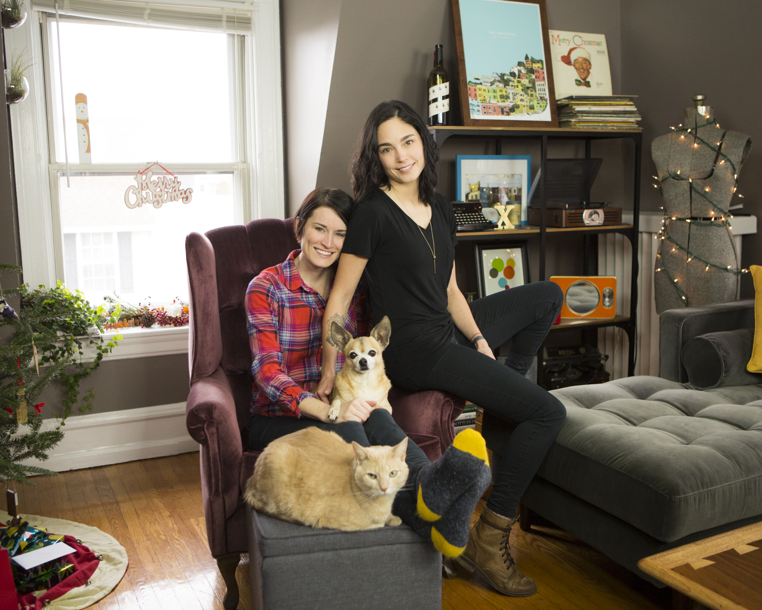 Some of us have family members that shed a lot! I love this sweet couple's space and having the chance to capture their environment with their beloved fur babies in it. Photographing in my client's home environment is one of my favorite things to do.