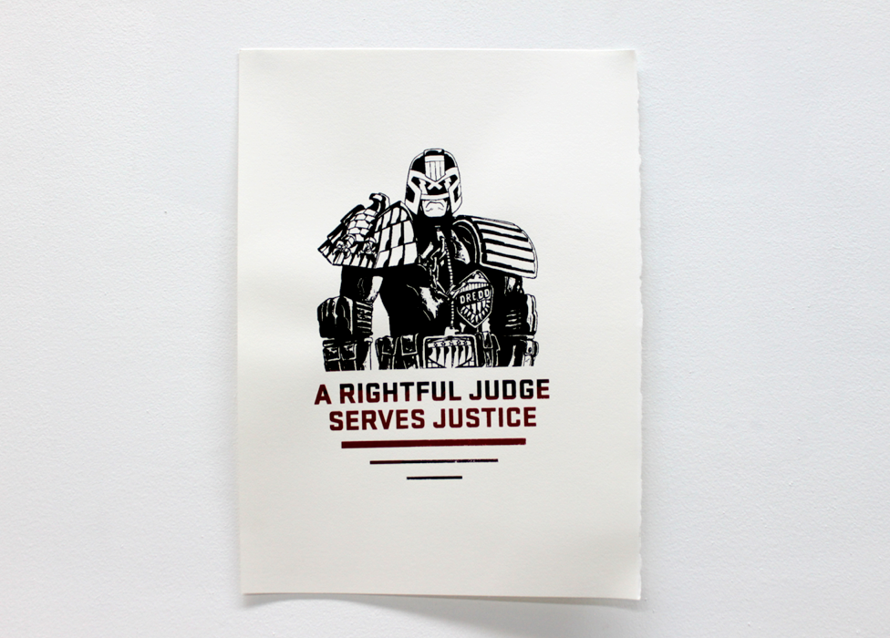 """Judge"" Two Color Screen Print"