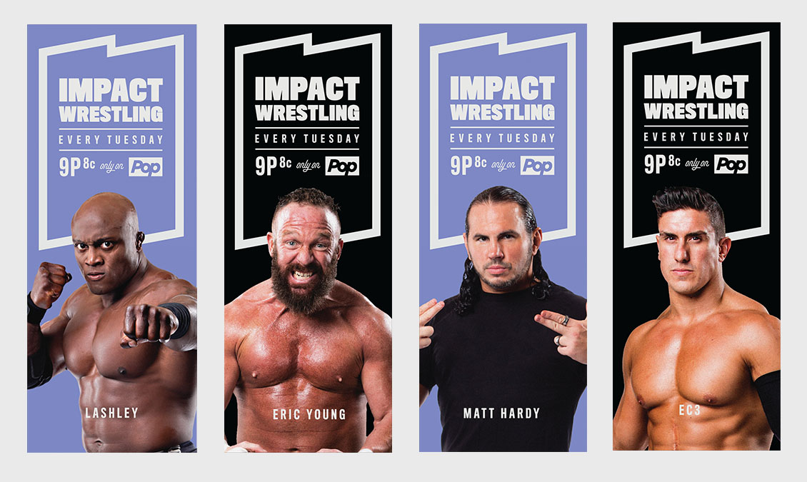 Stand Up Banners for Impact Wrestling Title Event
