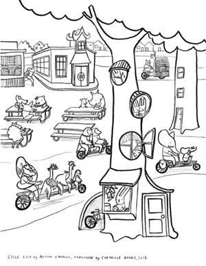 Cycle City coloring sheet