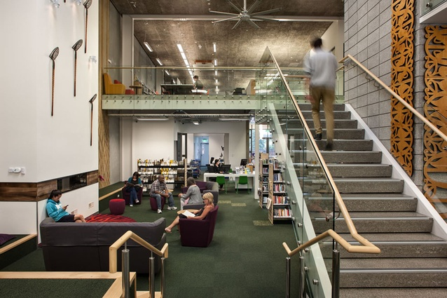 Ranui Library Stairs by Terrazzo + Stoneworks