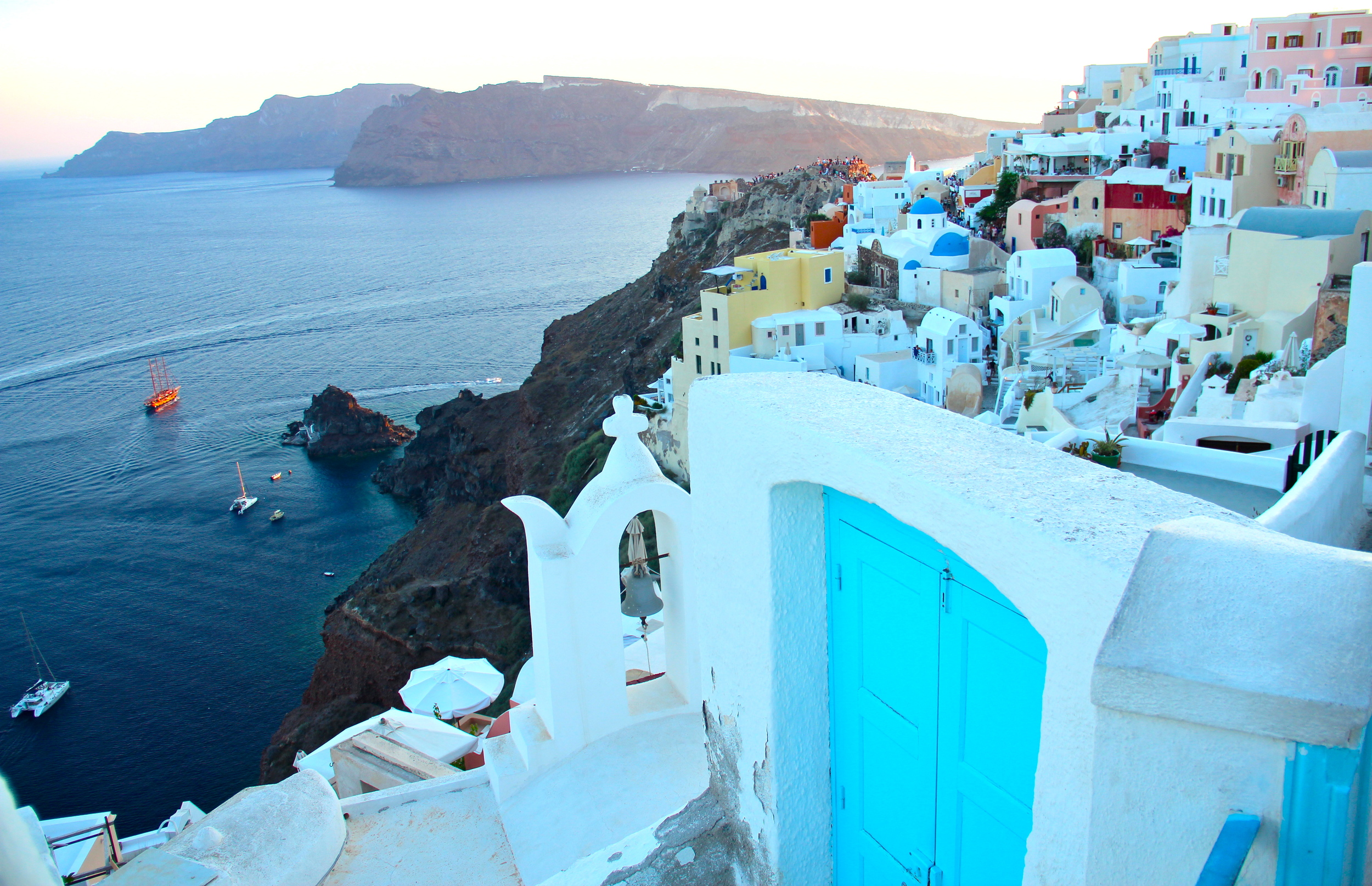 When you Google Santorini, the town of Oia is what comes up first. Note: The sunsets are world-famous, so pick your viewing spot out early. People start arriving about an hour before the sun sinks.