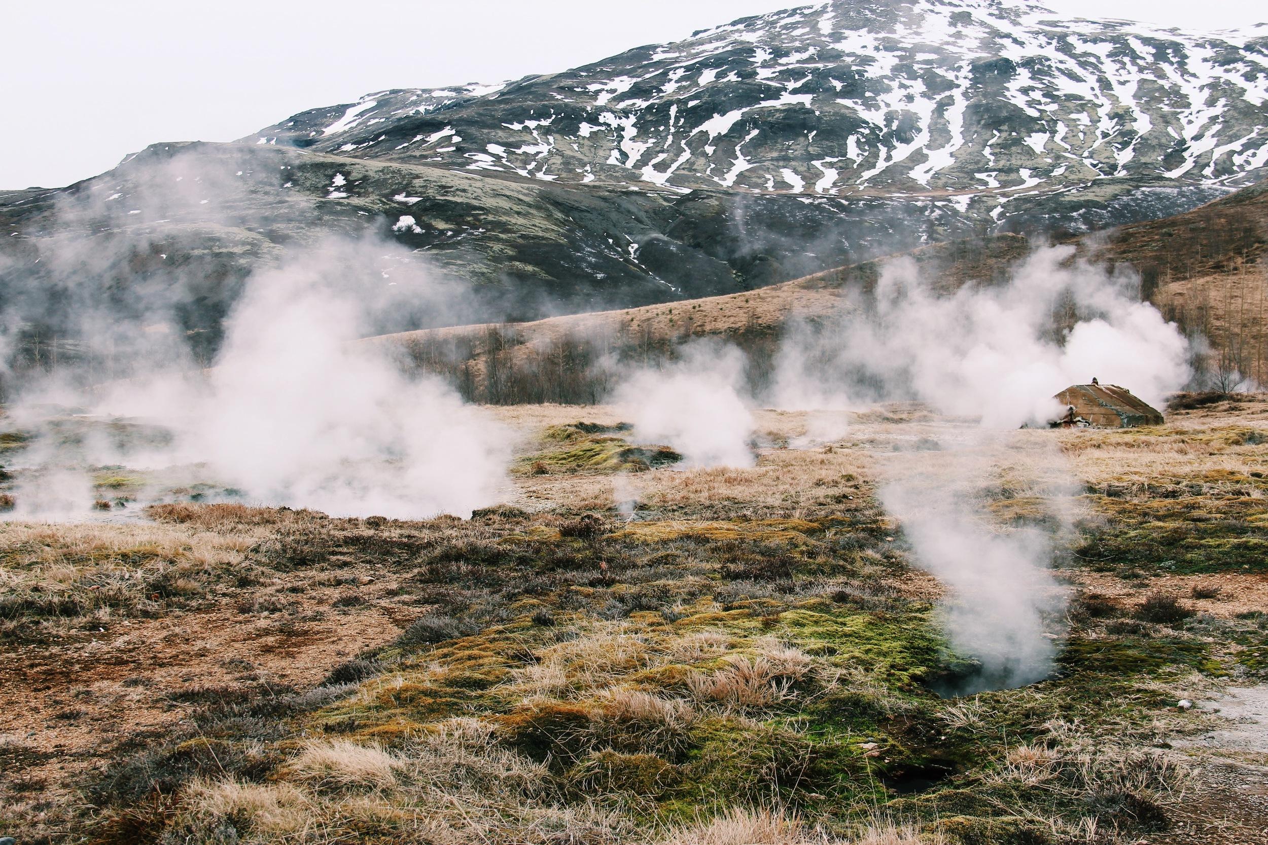 Geysir Hot Springs on Iceland's popular Golden Circle.