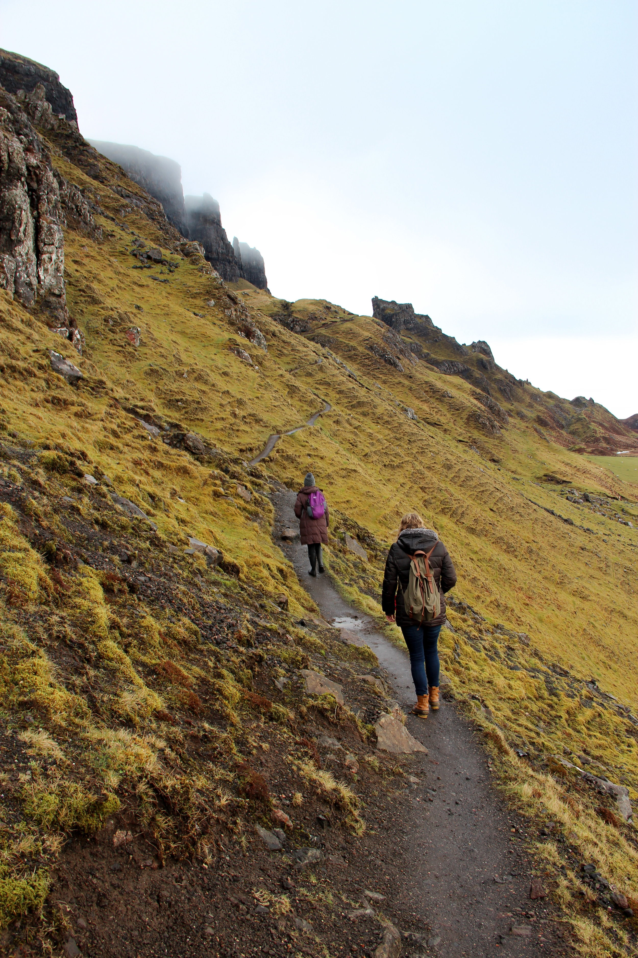 The Quiraing walking path at the beginning of our hike.