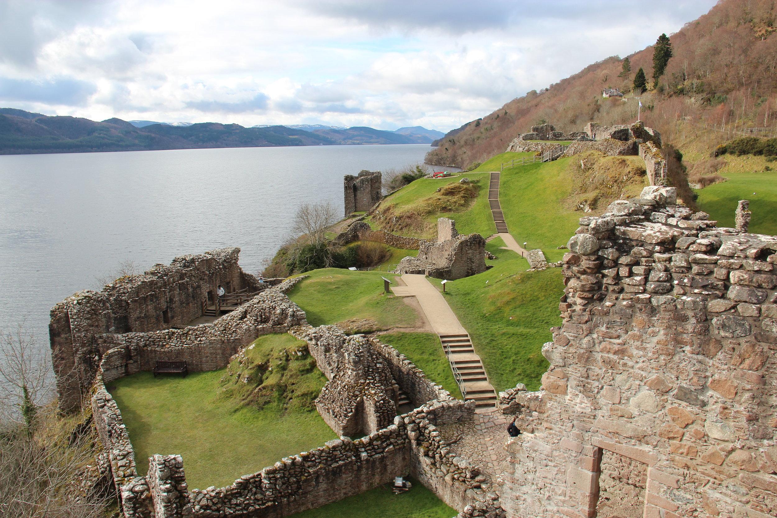 Urquhart Castle ruins on Loch Ness