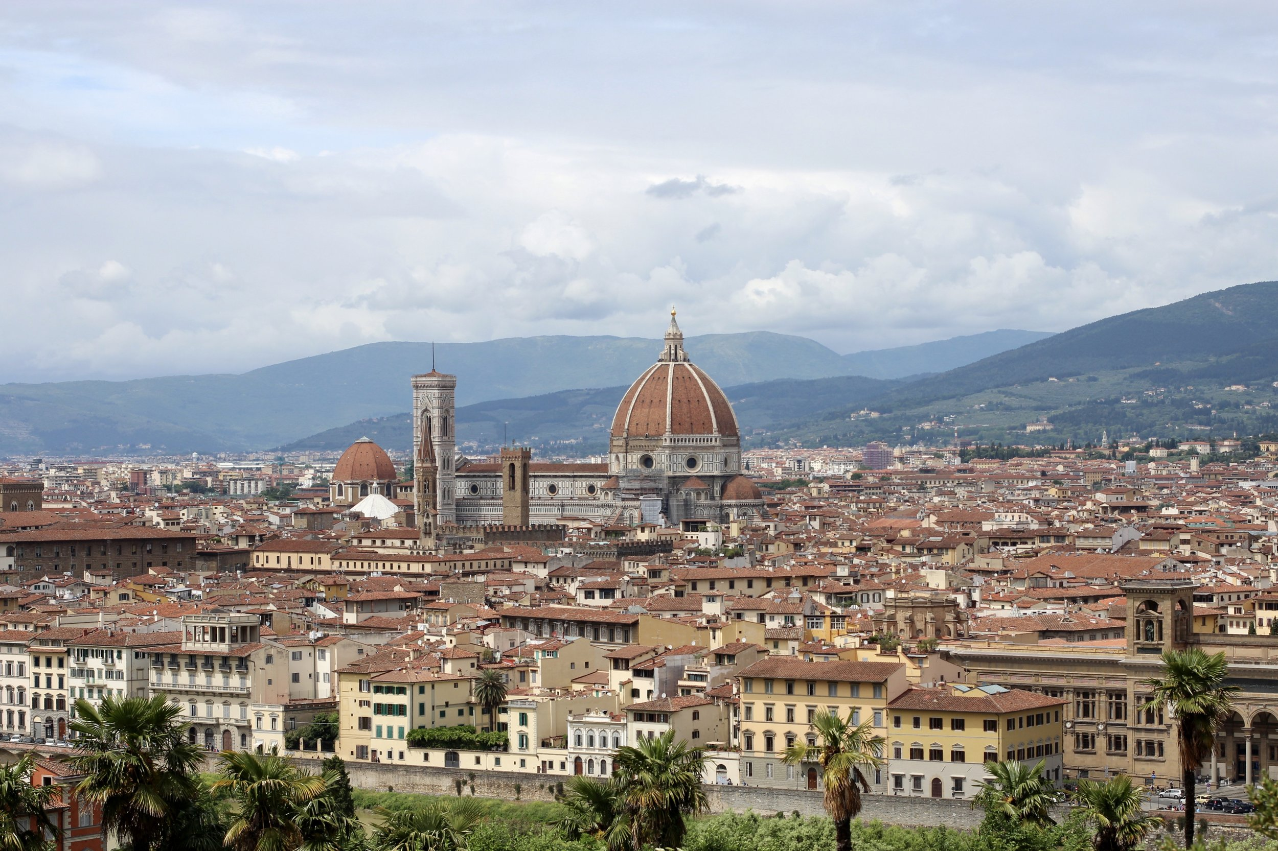 The view of the Florence Duomo from Piazzale Michelangelo