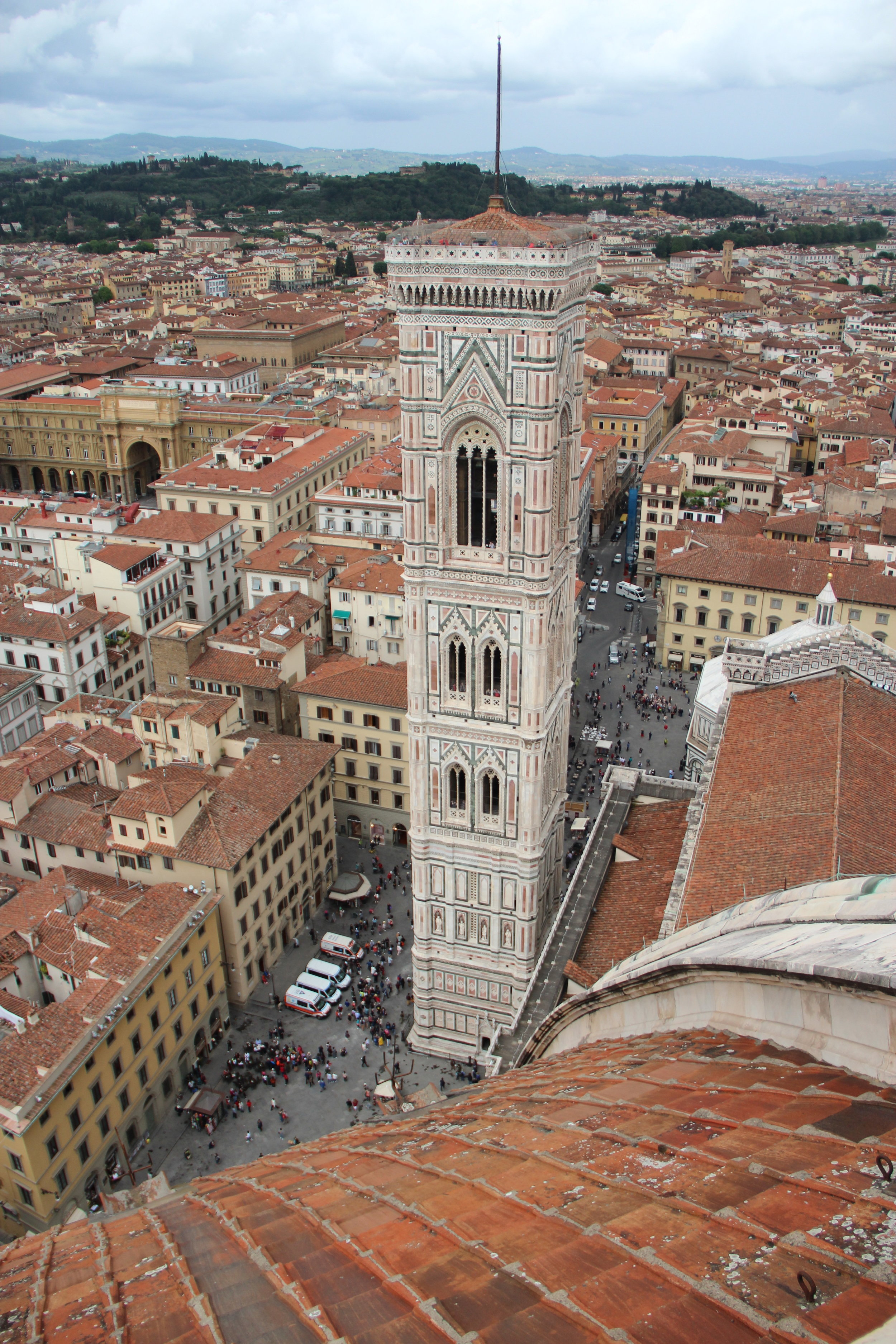 The Duomo's bell tower, officially called Giotto's Campanile—which you can also climb.