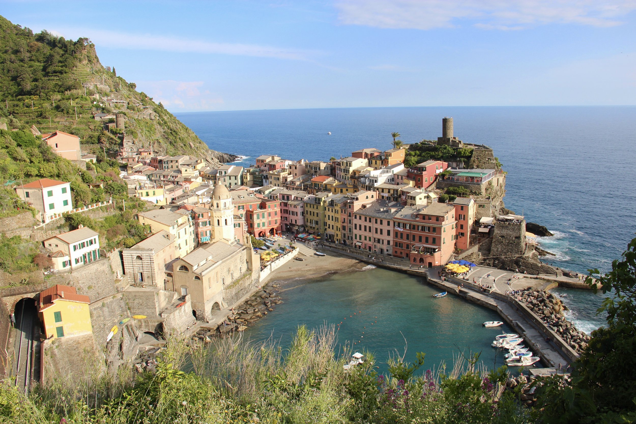 The village of Vernazza.