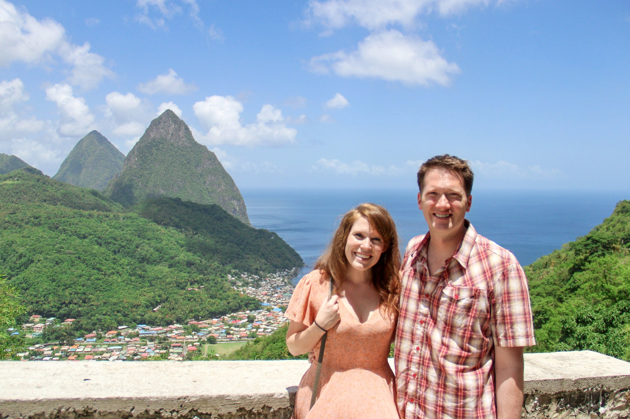 Ryan and I on our Saint Lucia honeymoon in 2017.