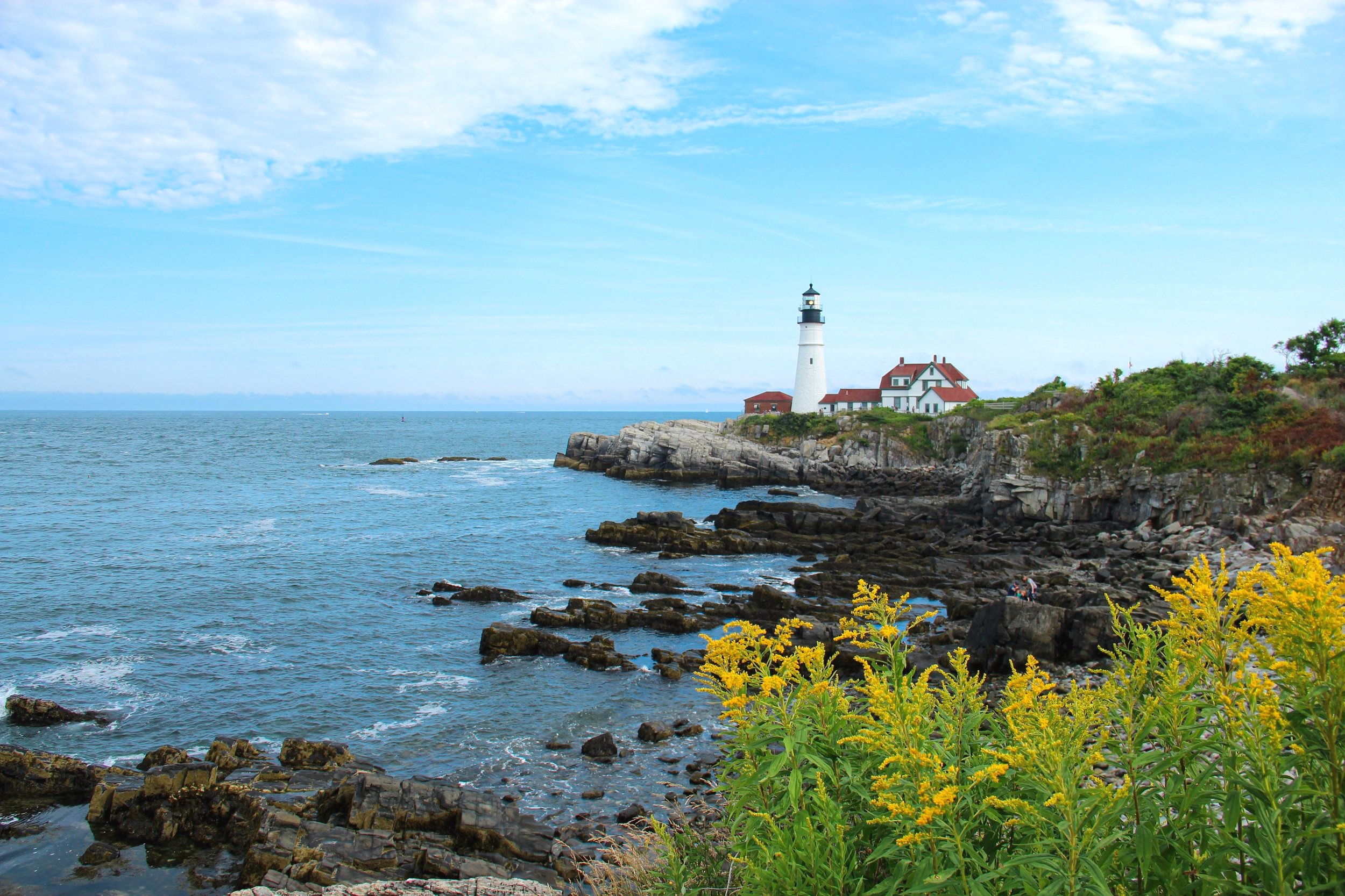 Maine's Portland Head Light in mid-August