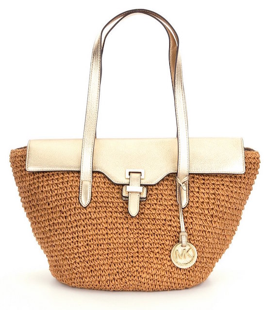 This  MICHAEL Michael Kors Naomi Large Straw Tote  is the perfect beach bag for mom. It's super stylish and it'll fit all of her essentials. Whether she's going on a long vacation or just spending a day at the beach, this tote is perfect for a stylish getaway.