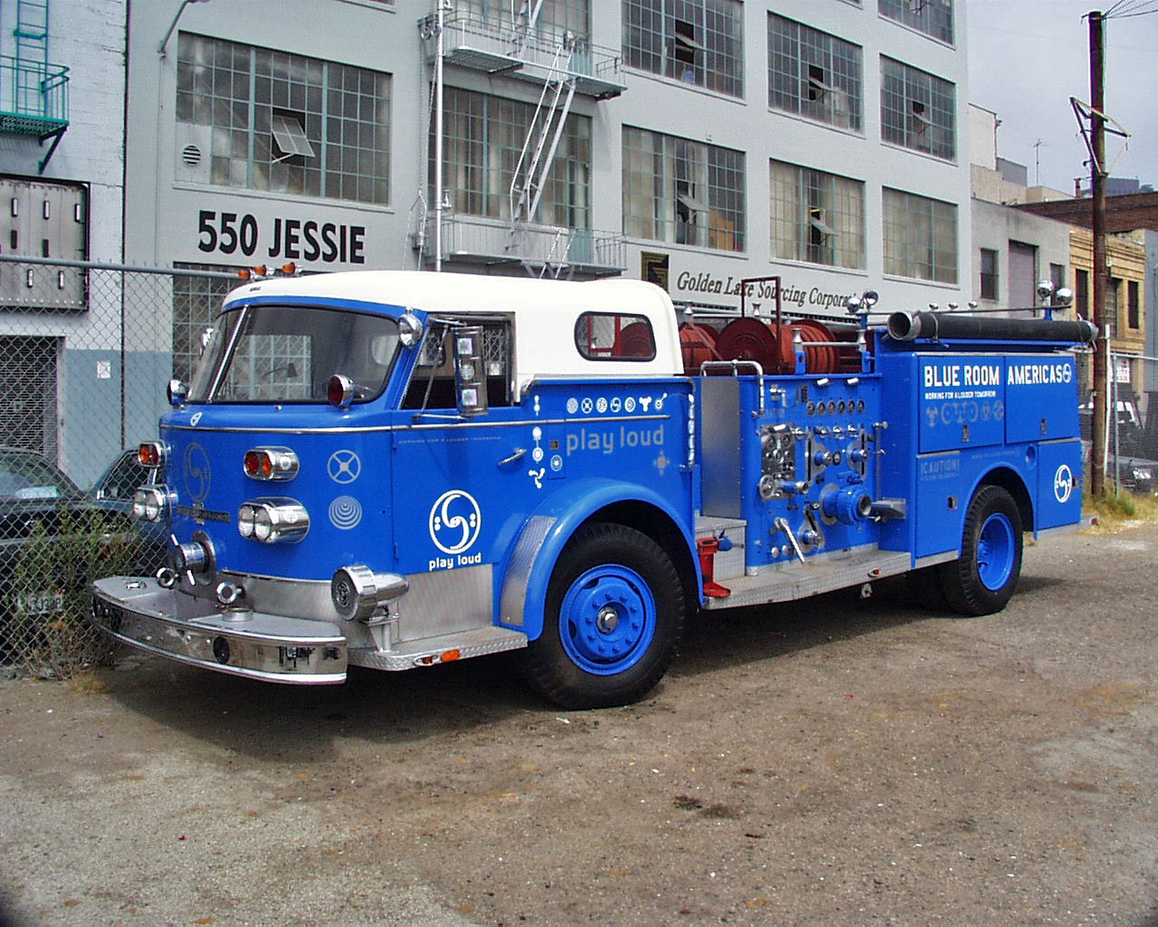 The Blue Room Fire truck