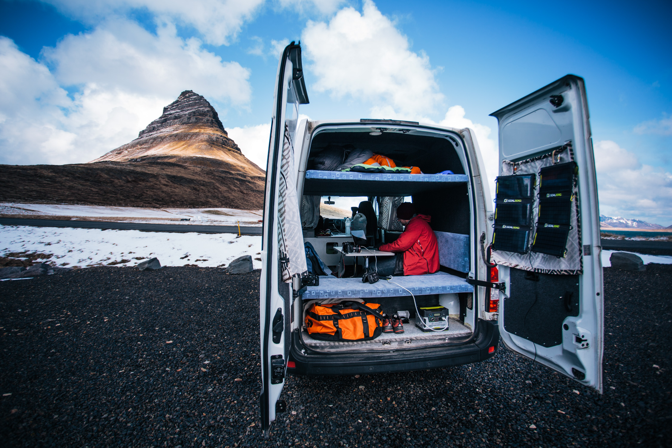 Working On Location in Kirjufell, Iceland