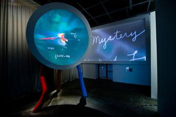La Salle des quatre mystères  Vue de l'exposition  Mathématiques, un dépaysement soudain,  Fondation Cartier pour l'art contemporain, Paris.   Photo Olivier Ouadah