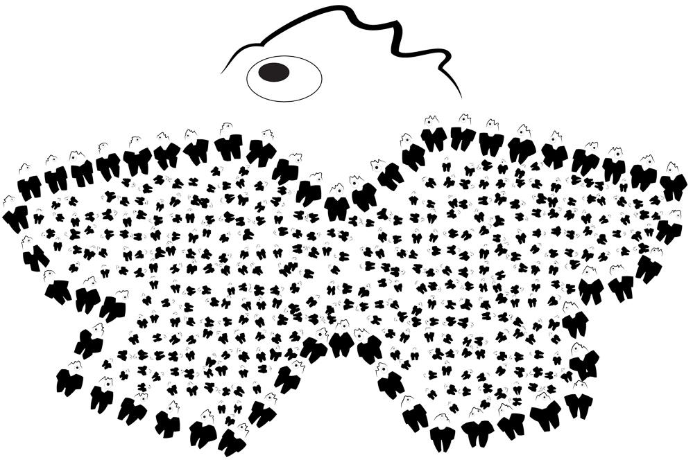 Jamais trop d'idées par sylvie gendreau. dessin-art numérique©pierre guité