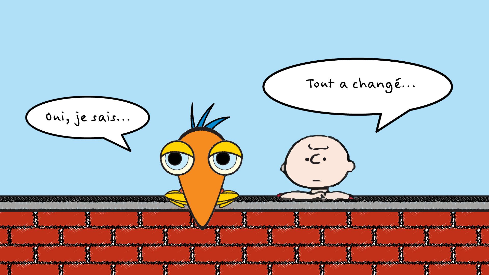 Dessin : Pierre Guité. Charlie Brown et ses copains par Sylvie Gendreau et Pierre Guité, Votre laboratoire créatif.