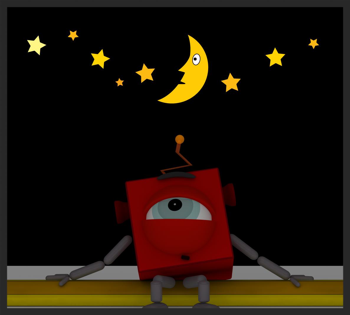 Dessin : Pierre Guité, Un robot peut-il écrire de la poésie ?
