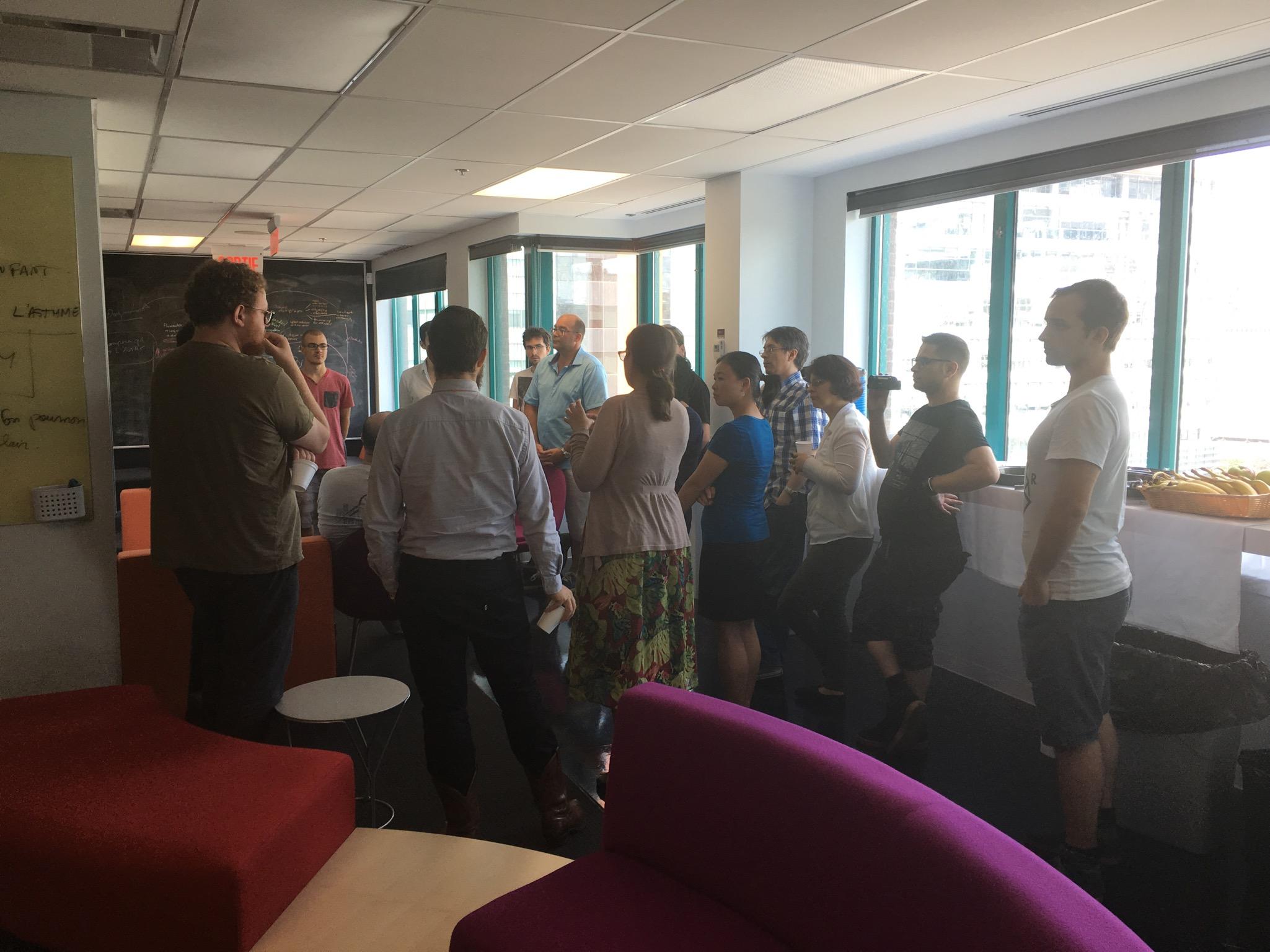 Laboratoire d'idées pendant la Game Jam de Breathing Games à l'Université Concordia.