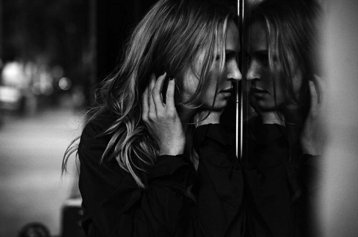 Photo de Peter  LIndbergh . Uma Thurman, Los Angeles, 2011