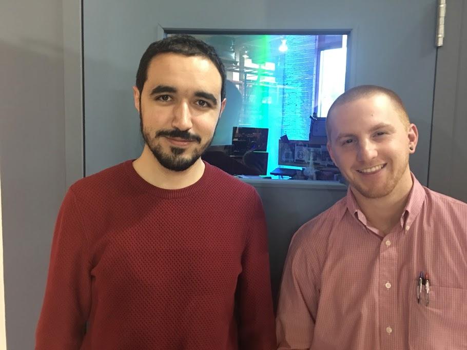 Mohamed-Amin Ben Lassoued (génie mécanique) et Alexandre Labelle (génie industriel), doctorants à l'École Polytechnique de Montréal.