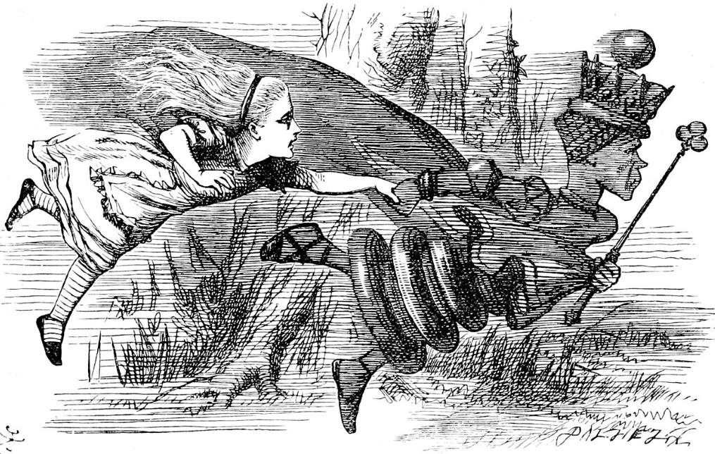 John Tenniel illustration, The Garden of Live Flowers.png