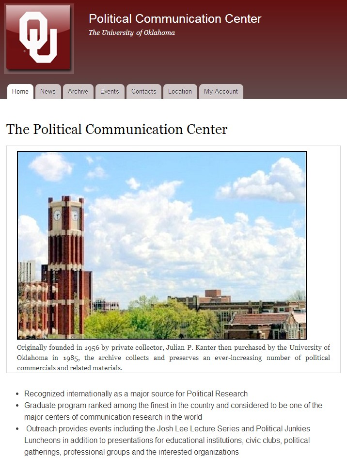 The Political Communication Center at The University of Oklahoma