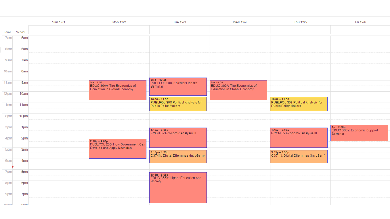 Roman Larson Finalized Course Schedule Fall 2013.png