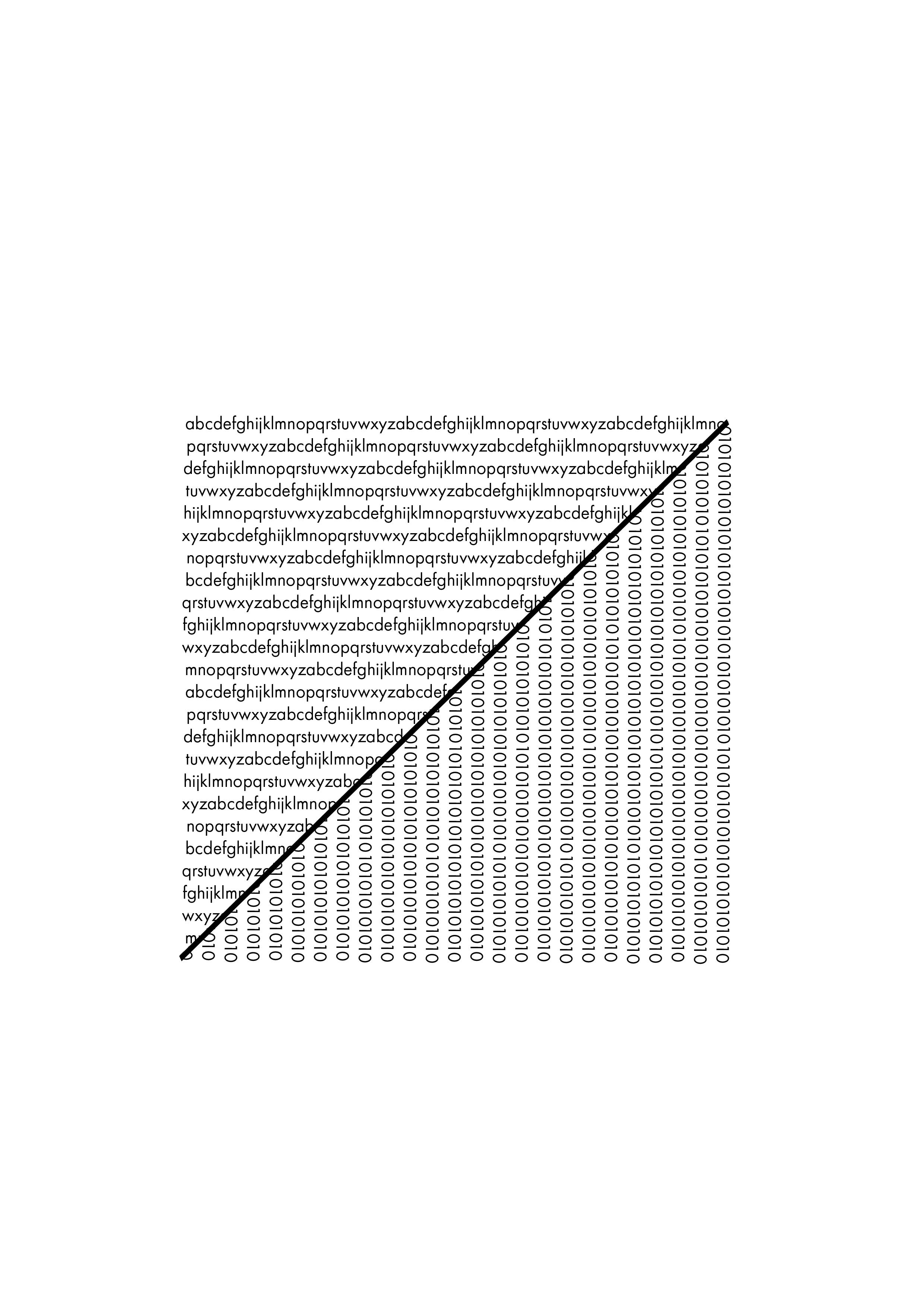 A-Z = 01