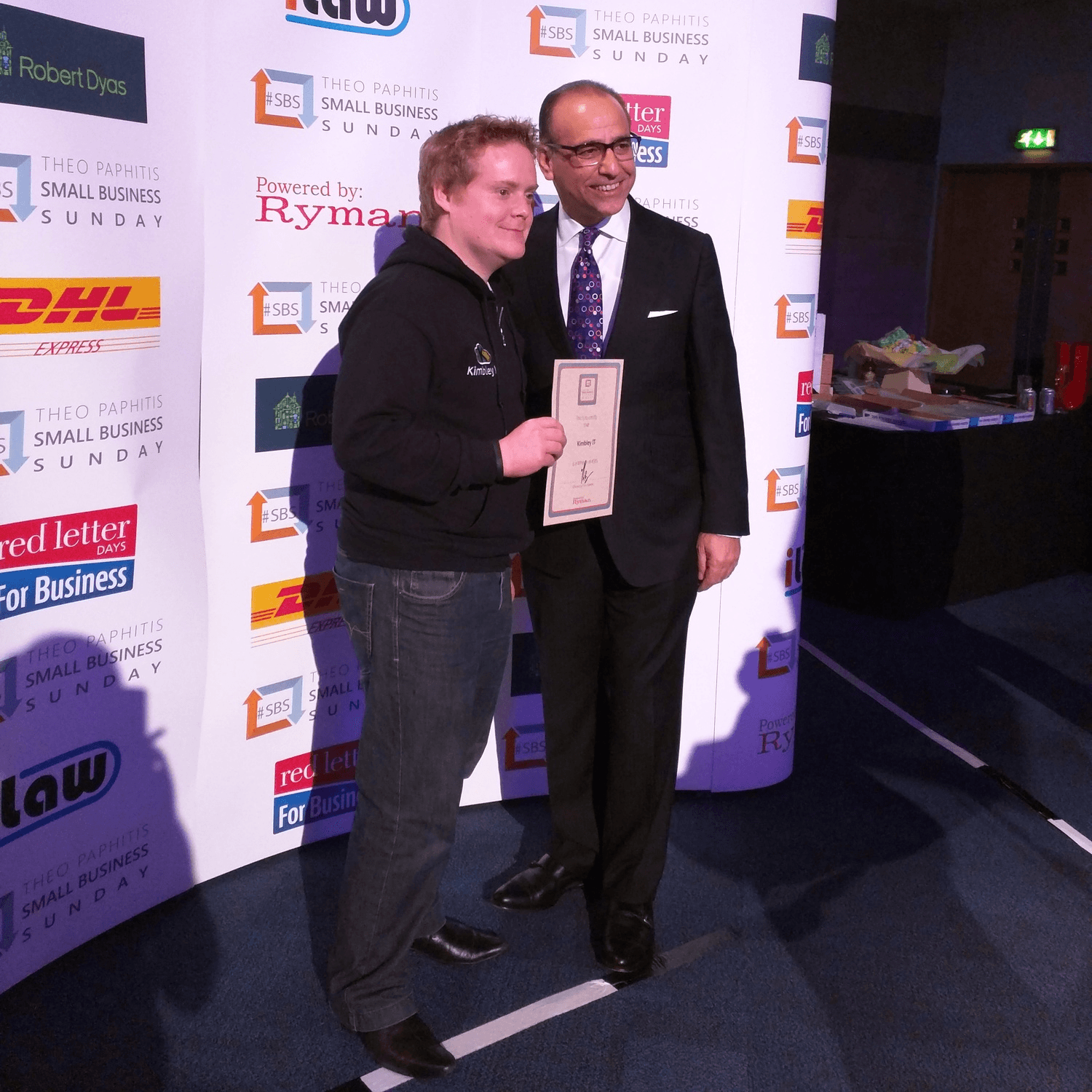 Kimbley IT won The Theo Paphitis Small Business award in Jan 2015.