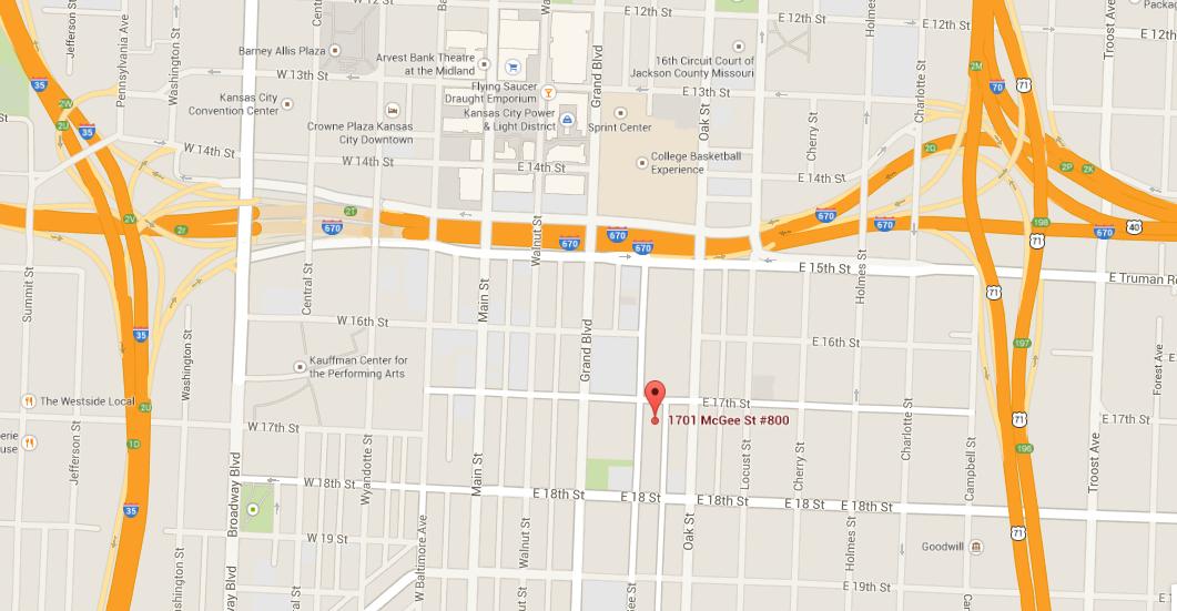 1701 McGee Suite 800 Kansas City, MO 64108
