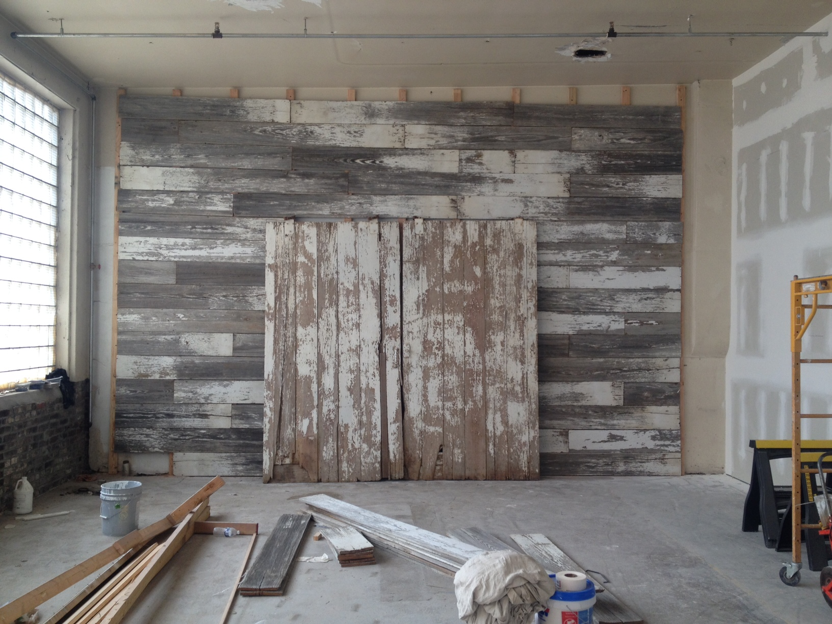 This antique barn wood wall is made from barn wood off a 100 year old barn! Talk about standing the test of time!