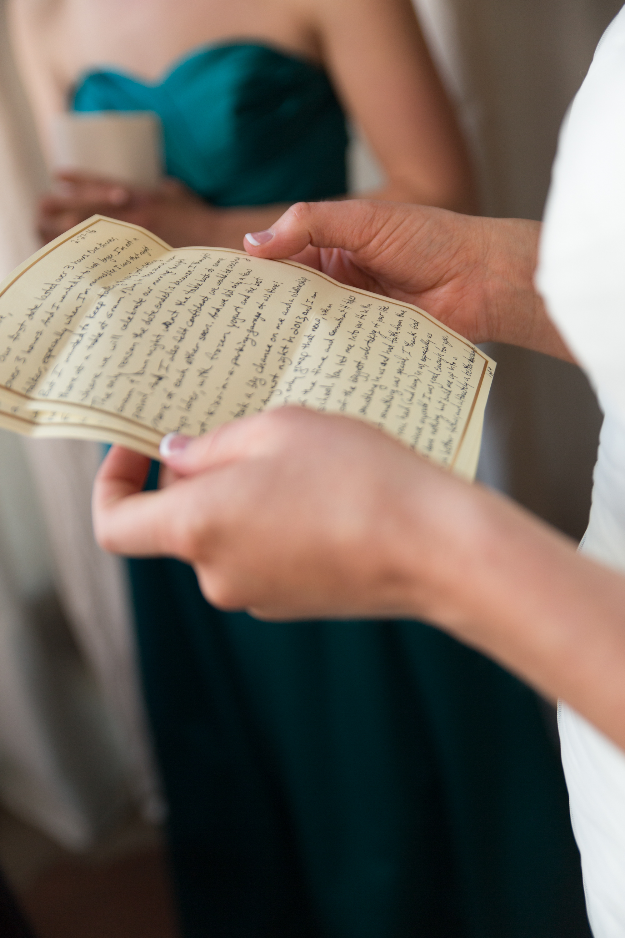 A SPECIAL LETTER FROM THE GROOM